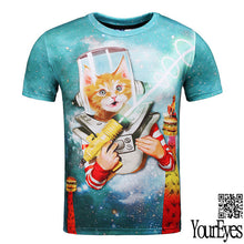 3d Cat T Shirt Summer Tops Tees Camisetas Mujer