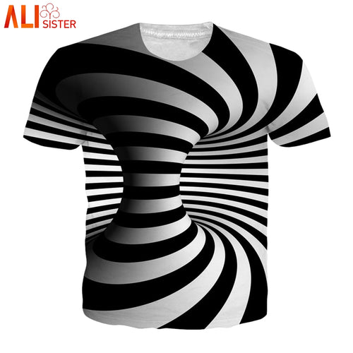 3d T Shirt Men Print Top Hip Hop Tee Shirt