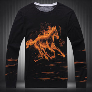 3D big eagle printing fashion boutique sweater