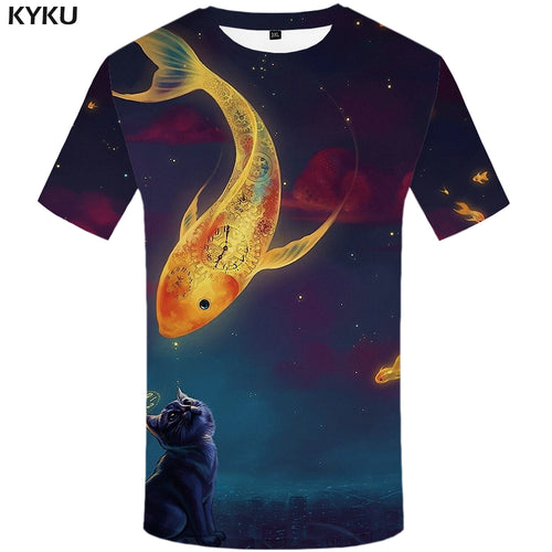 T Shirt 3d Print Fish T Shirts Sexy 2018 Summer - The3dfashion.com