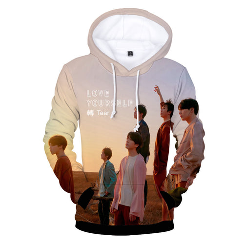 BTS New Album BTS LOVE Turn teal 3D Trend Hoodie