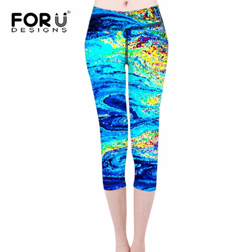 3D Pants Mixed Color Elastic Slim Leggings Leggins Ladies