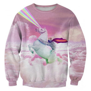 2018 New Cat Galaxy Clothes Animal Sweatshirt - The3dfashion.com