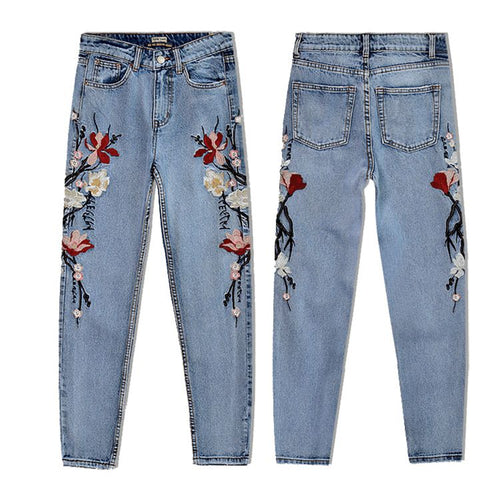 TFGS Jeans Rose High Waist Ankle-Length Jeans - The3dfashion.com