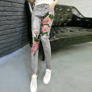 2018 New Elastic Jeans Skinny Pencil Jeans Trousers - The3dfashion.com