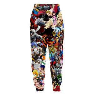 2018 newmen print Large Size loose sweatpants