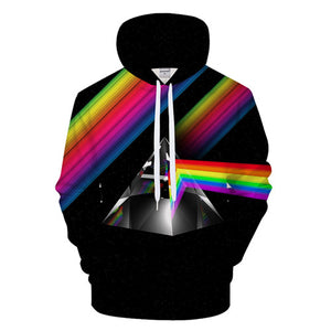3d Hat Print Stars Thin Hooded Hoody Tops Asian size