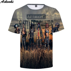 High quality 3D  Men Summer New T Shirt 3D Full Game PUBG