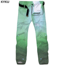 3d Baggy Gothic Mens Trousers Casual Summer New