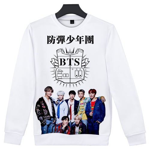 3D Bts Cool Pullover Winter Coat Women Hoodies