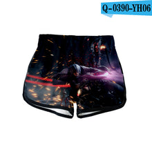 3D and Shorts Girls Sexy Wear Suitable for Summer