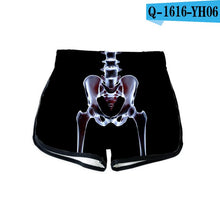 3D Cool High Waist Shorts Feminino Breathable Q1616