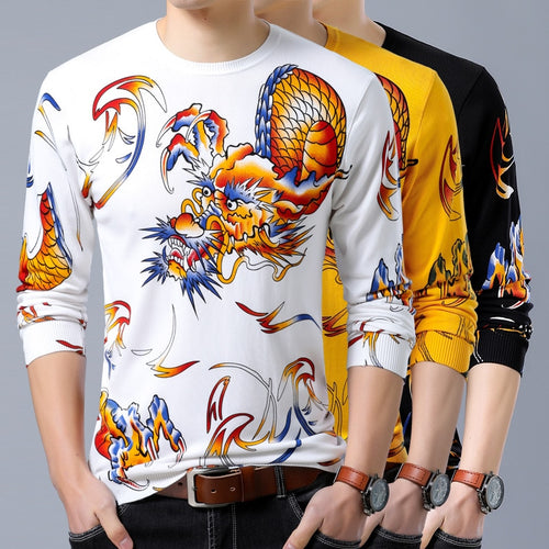 3D high-quality cotton soft thin sweater men M-XXXL