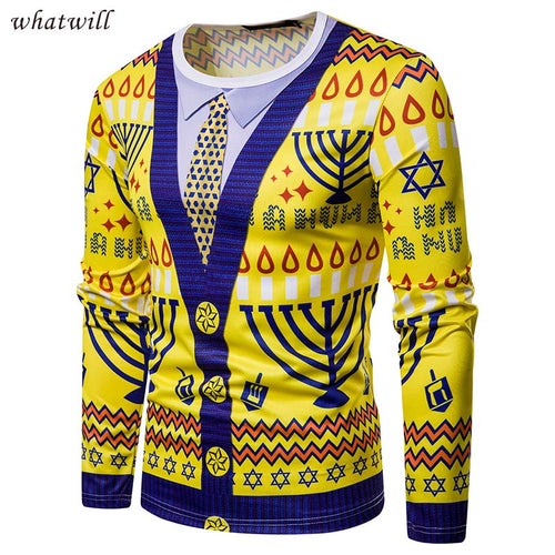 3d hombre casual Xmas pullovers sweater clothing