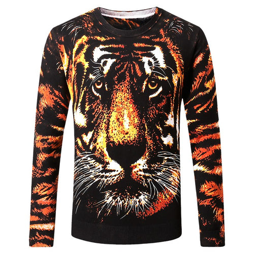 3D full high-quality soft elastic sweater men M-5XL