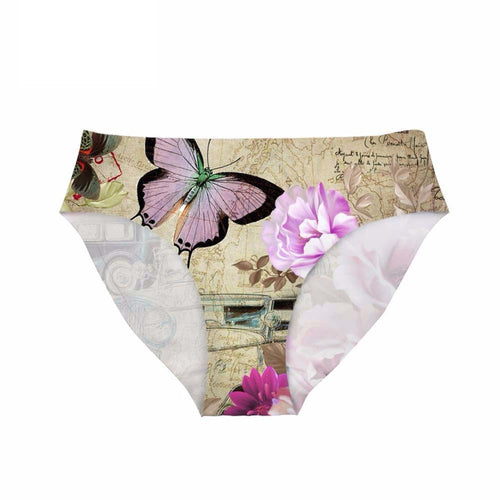 Floral Funny Set Panties Sexy 3D Retro Seamless Briefs