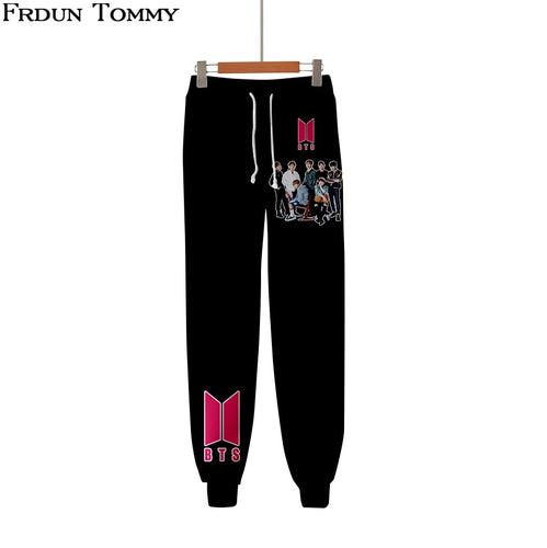 BTS High Quality New Casual Warm Pants Slim Kpop Pants