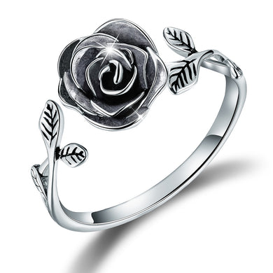 Anello Rosa Black in Argento