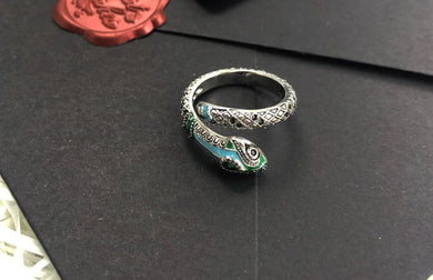 Anello Snake in Argento