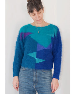 Bow sweater - hand knitted