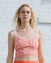 Load image into Gallery viewer, KNIT CROP TOP ORANGE