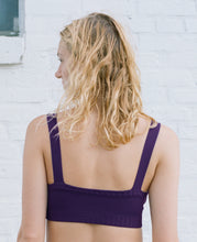 Load image into Gallery viewer, KNIT CURVE TOP PLUM