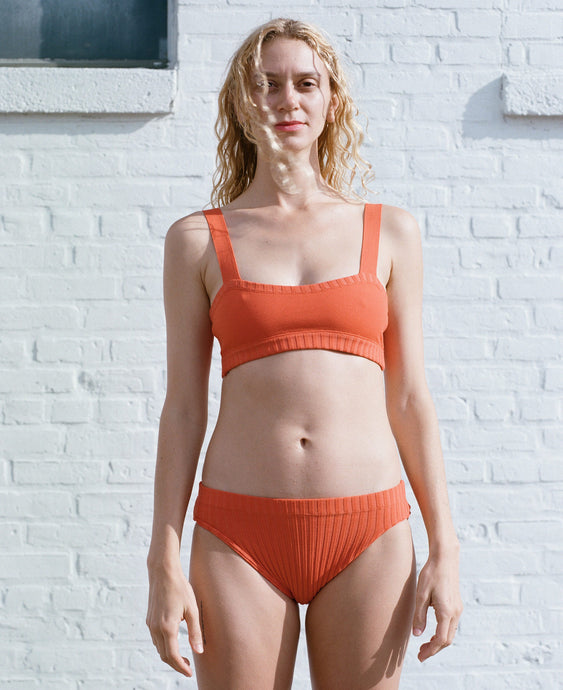 KNIT LOW BRIEF ORANGE