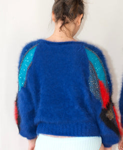 More fuzzy sweater - hand knitted