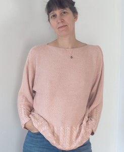 Pearl sweater - hand knitted
