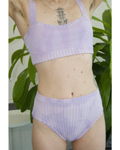 Load image into Gallery viewer, Tie dye curve top lilac