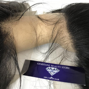 Body Invisible Lace Swiss 13 x 4 Frontal - Single Donor - GEMSTONE BEAUTY STORE