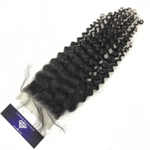 Virgin Kinky Curly 4x4 Closure - Single Donor - GEMSTONE BEAUTY STORE