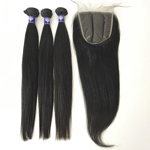 Virgin Straight 6x6 Lace Closure - Single Donor - GEMSTONE BEAUTY STORE