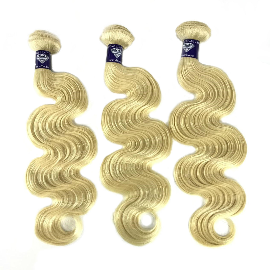Brazilian Blonde Body Wave - Single Donor – 2 free inches - GEMSTONE BEAUTY STORE