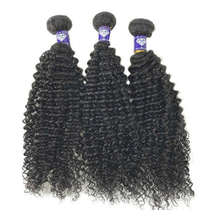 Virgin Brazilian Kinky Curly - 2 Additional Inches Free - GEMSTONE BEAUTY STORE