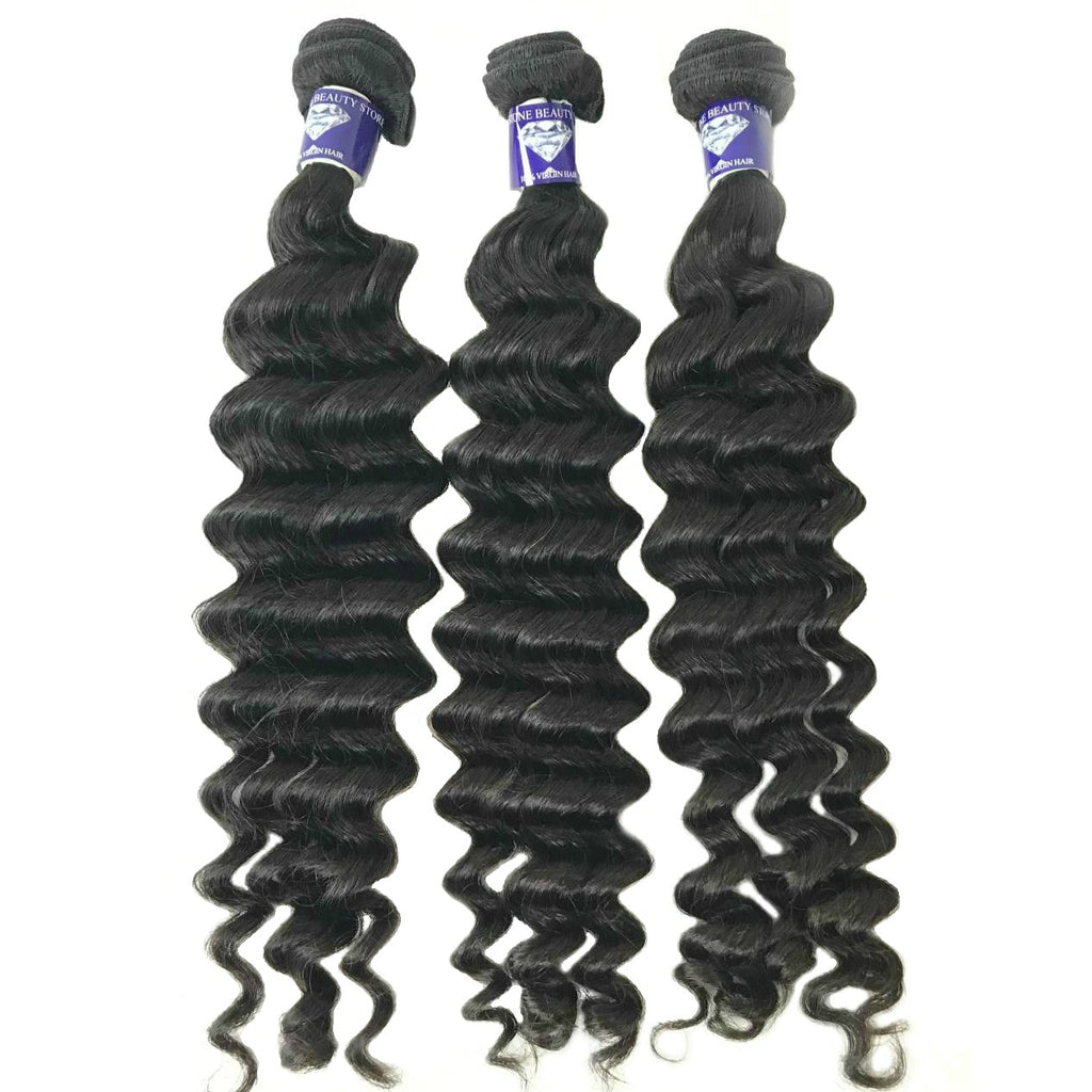 Loose Deep Wave- Single Donor – 2 free inches - GEMSTONE BEAUTY STORE