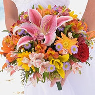 Bridal Bouquet - Deluxe Tropical - Mobile