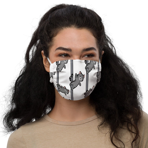 Grey Cat face mask