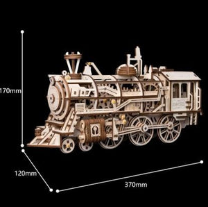 Wooden Mechanical Gear Locomotive