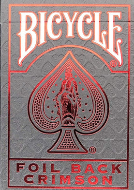 MetalLuxe Foil Back Crimson Playing Cards