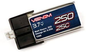 250mAh 1S 25C 3.7V Lipo for the MCPX