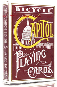 Capitol (Red) Playing Cards