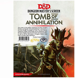 D&D 5.0 DM Screen Tomb of Annihilation