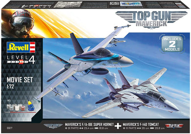 1/72 Top Gun: Maverick Set, F/A-18E Super Hornet & F-14D Tomcat