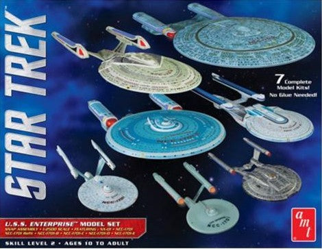 Star Trek 1/2500 U.S.S. Enterprise Model Set of 7