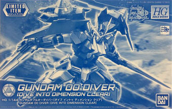 HGBD 1/144 Gundam 00 Diver (Dive Into Dimension Clear) (Convention Exclusive)