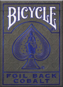 MetalLuxe Foil Back Cobalt Playing Cards