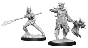 D&D Nolzur's Marvelous Miniatures Coralhelm Commander & Halimar Wavewatch (Merfolk)