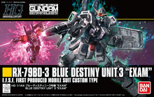 "Load image into Gallery viewer, HGUC 1/144 RX-79BD-3 Blue Destiny Unit 3 ""Exam"""