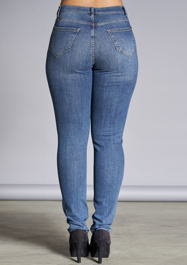 Stonewashed blå jeans - Ashley